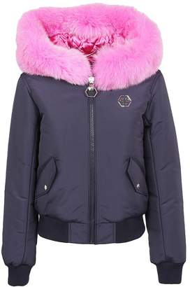 Philipp Plein Fur Trim Jacket