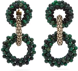 Rosantica BY MICHELA PANERO Carramato beaded chain earrings