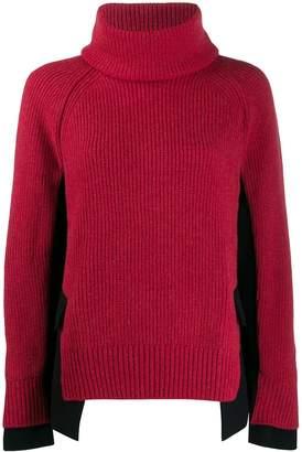 Sacai high neck hybrid sweater