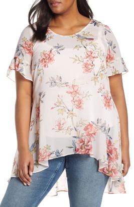 Estelle Songbird Floral High/Low Blouse
