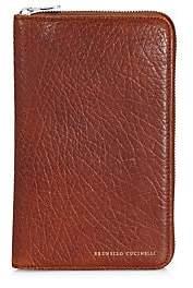 Brunello Cucinelli Men's Leather Zip Around Travel Case