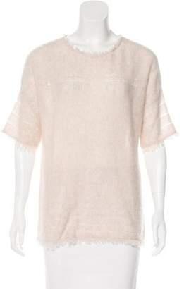 Velvet Cashmere Knit Sweater