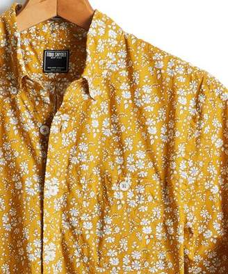Todd Snyder Liberty Floral Print Shirt in Brass