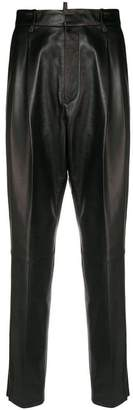 DSQUARED2 tapered leather trousers