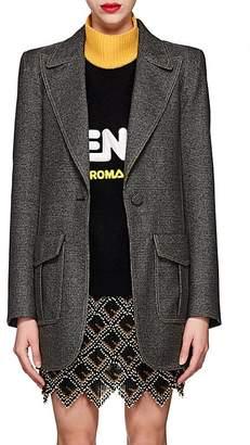 Fendi Women's Checked Wool-Blend One-Button Blazer