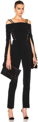 David Koma Oversized Loops & Metal Balls Cropped Jumpsuit