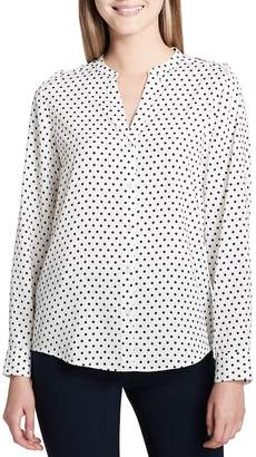 Calvin Klein Women's Polka Dot Button-Down Shirt