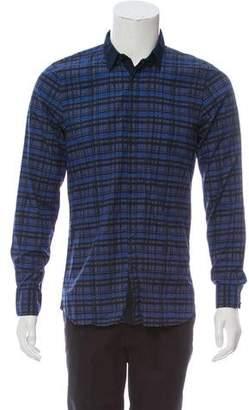 Calvin Klein Collection Pattern Button-Up Shirt