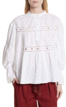 See by Chloe Embroidered Eyelet Blouse