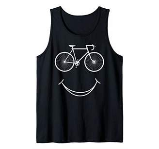 Bike Smile Face Funny MTB Cycling Bicycle themed rider Gift Tank Top