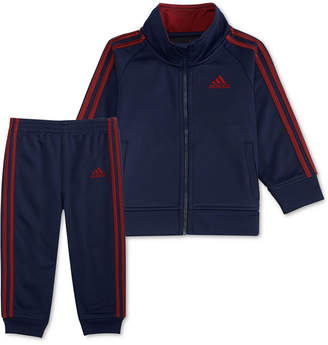 adidas Baby Boys 2-Pc. Three Stripe Track Jacket & Pants Set