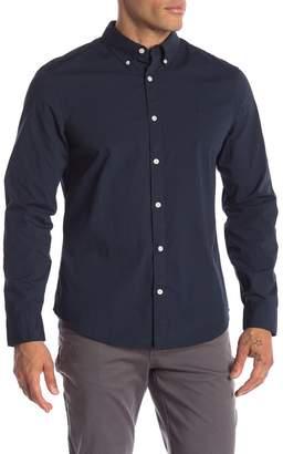 Original Penguin Solid Long Sleeve Poplin Heritage Slim Fit Shirt