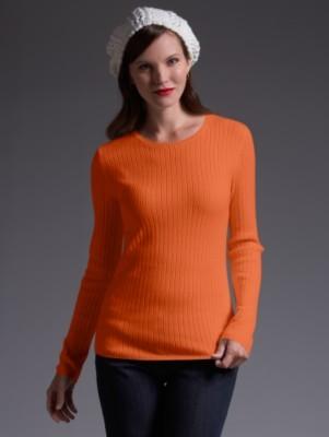 Ribbed jewel neck sweater
