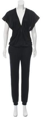 Stella McCartney V-Neck Short Sleeve Jumpsuit