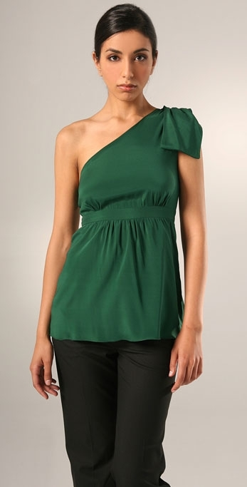 Alisha Levine Lydia One Shoulder Tie Top