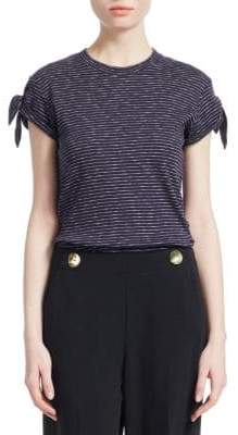 Derek Lam 10 Crosby Striped Knot Tee