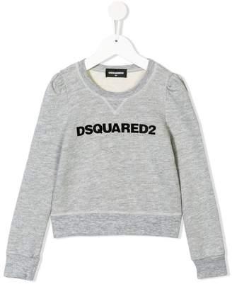DSQUARED2 flocked logo sweatshirt
