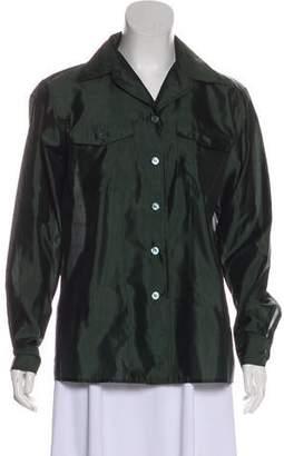 Max Mara Weekend Long Sleeve Button-Up Top