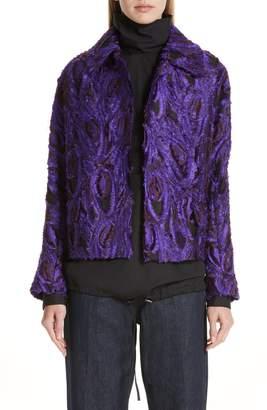 Dries Van Noten Peacock 3D Jacquard Jacket