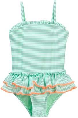 Hula Star Sailor Stripe One-Piece Swimsuit (Toddler & Little Girls)
