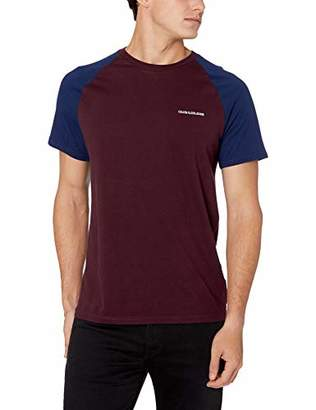 Calvin Klein Jeans Men's Short Sleeve Logo Colorblock T-Shirt