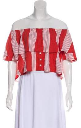 Faithfull The Brand Striped Salerno Top w/ Tags