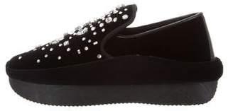 Giuseppe Zanotti Milky Way Embellished Slip-On Sneakers w/ Tags
