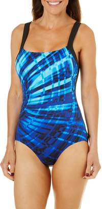 eab31dd2297e5 Reebok Women s Laserfocus Constructed One Piece Swimsuit
