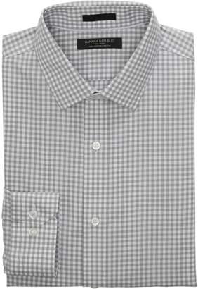 Banana Republic Grant Slim-Fit Non-Iron Stretch Gingham Shirt