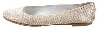 Giuseppe Zanotti Embellished Metallic Flats
