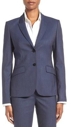 Women's Boss Julea Wool Suit Jacket $595 thestylecure.com