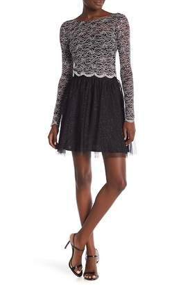 Jump Lace Crop Top & Tulle Skirt Set