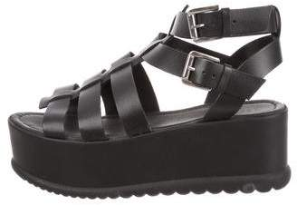 Barneys New York Barney's New York Leather Platform Sandals