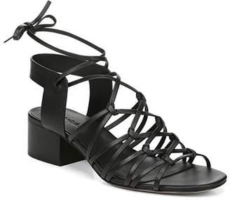 Vince Women's Beaumont Leather Lace Up Block Heel Sandals
