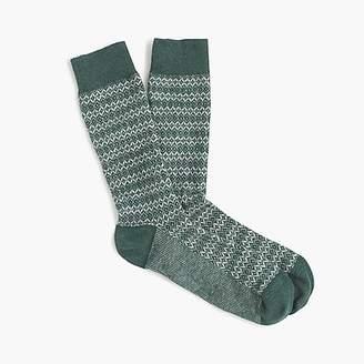J.Crew Diamond weave socks