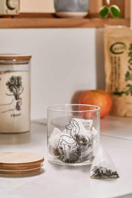 Small Wooden Lid Glass Storage Jar