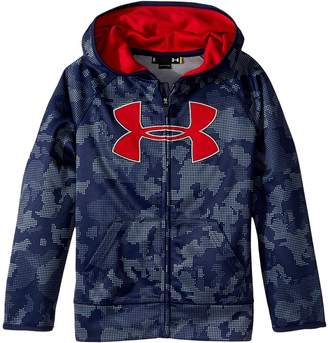 Under Armour Kids Utility Camo Big Logo Hoodie Boy's Sweatshirt