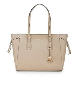 de2dfbe59539 Michael Kors Voyager Top Zip Leather Tote Bag Colour  TRUFFLE