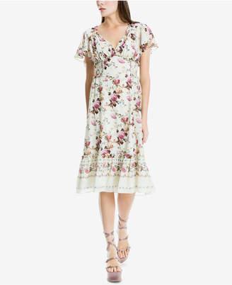 Max Studio London Smocked V-Neck Printed Dress, Created for Macy's