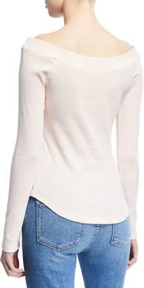 Frame Off-the-Shoulder Raglan-Sleeve T-Shirt