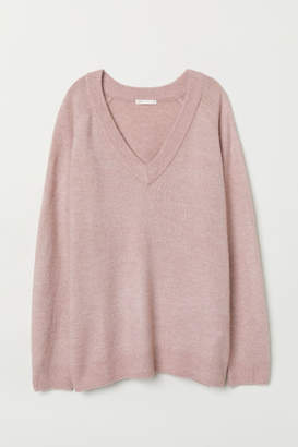 H&M V-neck Sweater - Pink