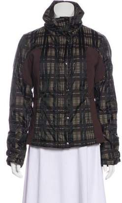 Post Card Plaid Zip-Up Jacket