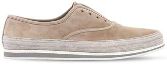Prada Saint Tropez Suede Lace-Up Sneakers