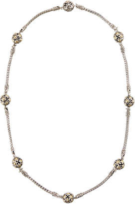 John Hardy Jaisalmer Silver & 18k Gold Station Necklace