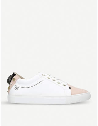 Kurt Geiger London Ludo quilted eagle-detailed trainers
