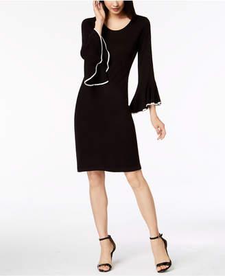 Calvin Klein Bell-Sleeve Sweater Dress