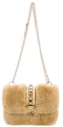 Valentino Small Mink Glam Lock Flap Bag