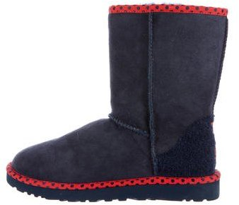 UGG UGG Australia Suede Round-Toe Ankle Boots