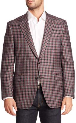Saks Fifth Avenue BY SAMUELSOHN Classic-Fit Plaid Wool & Cashmere Sportcoat