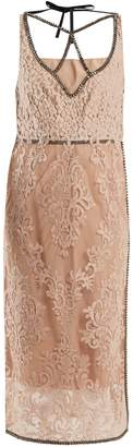 No.21 NO. 21 Crystal-embellished floral lace dress